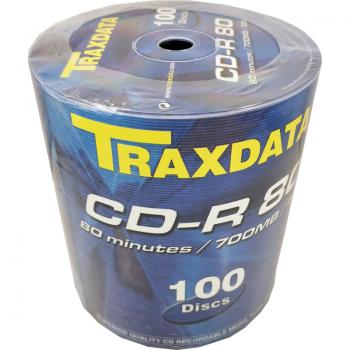 CD-R Traxdata non-printable , 700MB, 52x, Pachet 100 discuri