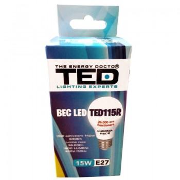 Bec LED E27, 15W, 6400K, 36.000h