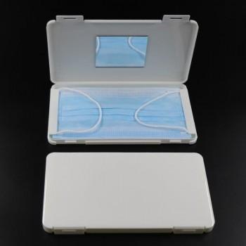 Carcasa alba portabila cu oglinda, 190x110x12,5mm