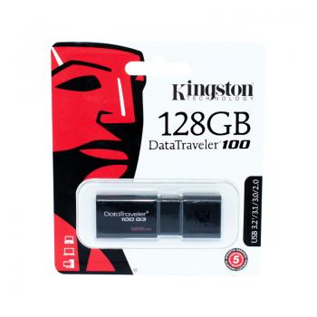 Memorie USB 3.2 / 3.1 / 3.0 / 2.0 Kingston, 128GB, DataTraveler, Black