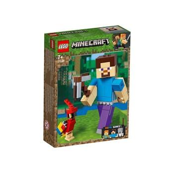 Minecraft Steve BigFig cu papagal (21148)