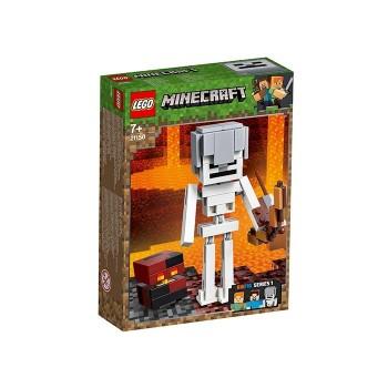 Minecraft Schelet BigFig si cub de magma (21150)