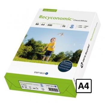 Hartie copiator A4 Recyconomic, 80 g/mp, 500 coli/top
