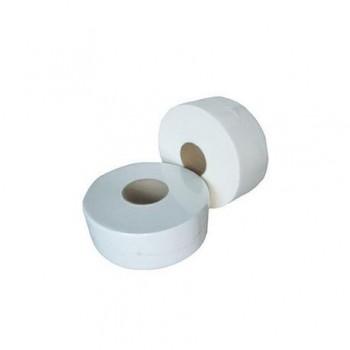 Hartie igienica Mini Jumbo, 2 straturi, alb, 100 m/rola, 6 bucati/set