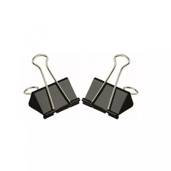 Clipsuri metalice, 32 mm, negru, 12 bucati/cutie