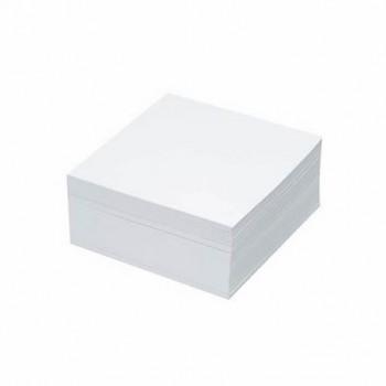 Cub hartie Dacline, lipit, 9 x 9 cm, 500 file, alb