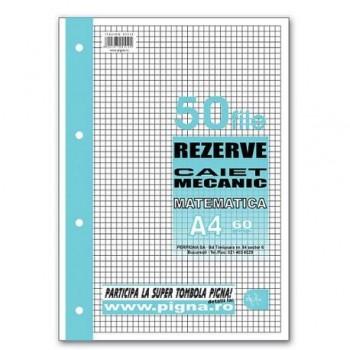 Rezerva caiet mecanic Pigna, A4, 50 file, matematica