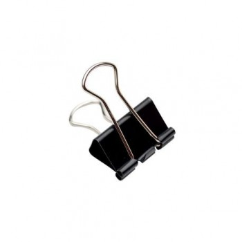 Clipsuri metalice, 25 mm, negru, 12 bucati/set