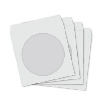 Plic CD 124 x 124 mm, cu fereastra, alb, 25 buc/set