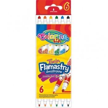 Carioci Colorino Flamastry Twin, 6 bucati/set