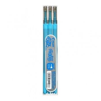 Rezerva roller Pilot Frixion Point, 0.5 mm, 3 bucati/set, bleu
