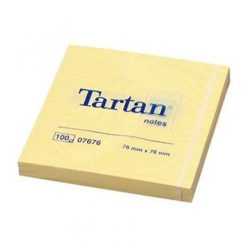 Notite adezive 3M Tartan, 76 x 76 mm, 100 file
