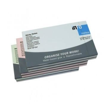 Notite adezive Info Notes, 75 x 125 mm, roz, 100 file