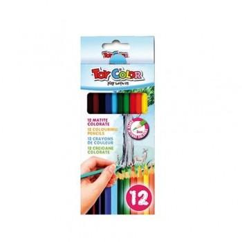 Creioane colorate Toy Color, 12 culori