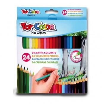 Creioane colorate Toy Color, 24 culori