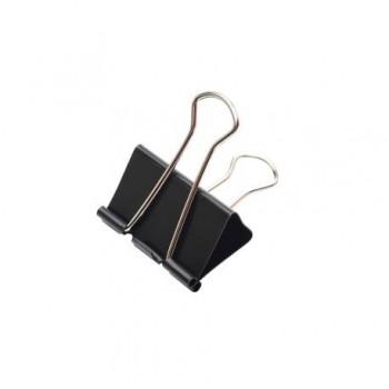 Clipsuri metalice, 41 mm, negru, 12 bucati/set