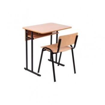 Banca scolara cu scaun Eco D, 650 x 500 x 750 mm