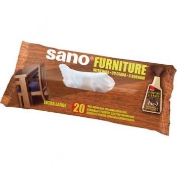 Servetele umede Sano pentru mobila, 20 buc/set