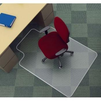 Covoras PVC protectie mocheta, cu limba, transparent, 134 x 115 cm