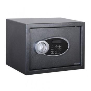 Seif metalic electronic 25 x 35 x 25 cm, negru