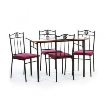 Set masa Victory + 4 scaune, MDF, cires