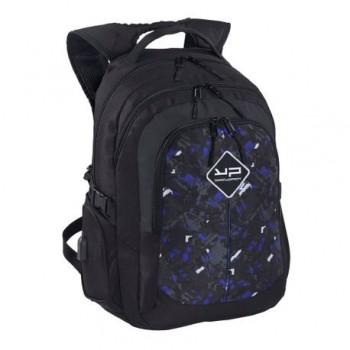 Rucsac laptop Bodypack 1620 fulger, 2 compartimente, port USB, negru