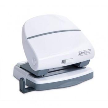 Perforator plastic Rapesco P30, alb