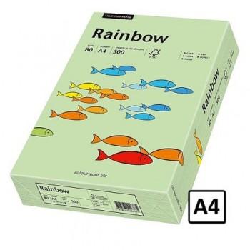 Hartie  A4 Rainbow, 80 g/mp, 500coli/top, verde mediu