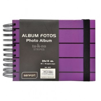 Album foto Stripes, 20 x 15 cm, 30 file, mov
