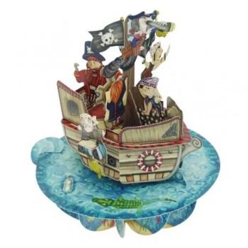 Felicitare Pirouettes - Corabia piratilor