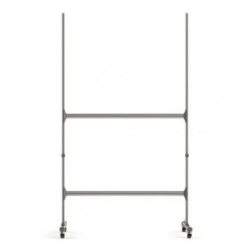Stand metalic mobil Bi-Office, pentru tabla magnetica 120 x 240 cm