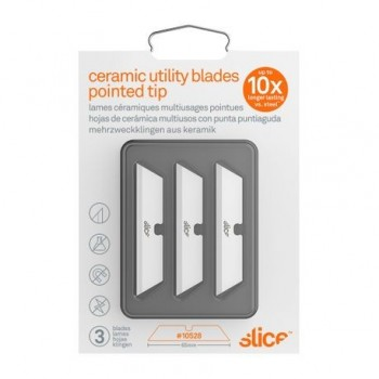 Rezerva cutter ceramic Slice Utility, ascutita, 3 buc/set