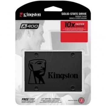 SSD Kingston, 480Gb, SSDNow A400, SATA 3.0, 7mm, rata transfer r/w 500mbs/450mbs, dimensiuni: 100.0mm x 69.9mm x 7.0mm