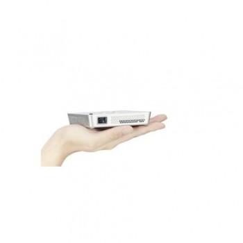 Proiector ACER C101i DLP, WVGA (854x480), 150 lumeni, 1200:1,lampa20.000 ore, USB, 265g, trepied, culoare alb.