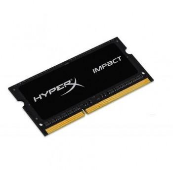 Memorie RAM notebook Kingston, SODIMM, DDR3L, 4GB, 1600MHz, CL9, HyperX Impact Black, 1.35V