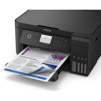 Multifunctional inkjet color Epson EcoTank CISS L6160, dimensiune A4 (Printare,Copiere, Scanare), printare borderless, viteza 33ppm alb-negru, 20ppm