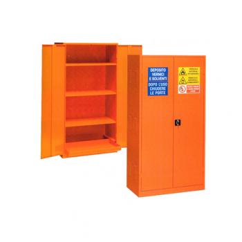 Dulap metalic pentru lichide inflamabile, 1000x550x2000 mm, 3 polite