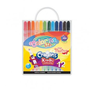 Creioane colorate rasucite Colorino, set 12 buc