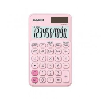 Calculator portabil Casio SL-310UC, 10 digits, roz