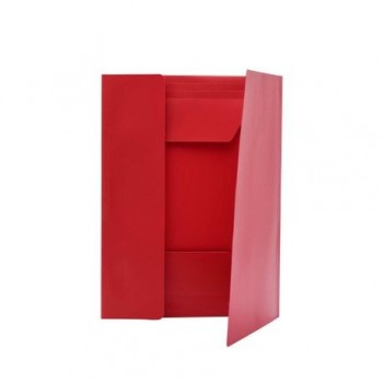Mapa plastic, inchidere cu elastic, rosu