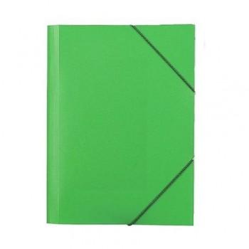 Mapa plastic Skag, A4, inchidere cu elastic, verde