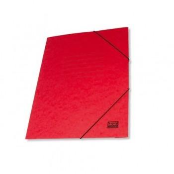Mapa carton cretat Skag, A4, inchidere cu elastic, rosu