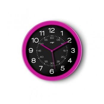 Ceas de perete magnetic CEP Gloss, 30 cm, roz