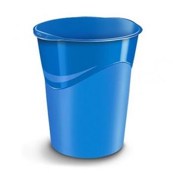 Cos de birou CEP Gloss 14 l, albastru