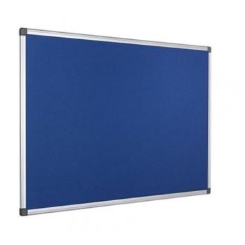 Panou textil Bi-Silque, rama din aluminiu, 60 x 90 cm, albastru