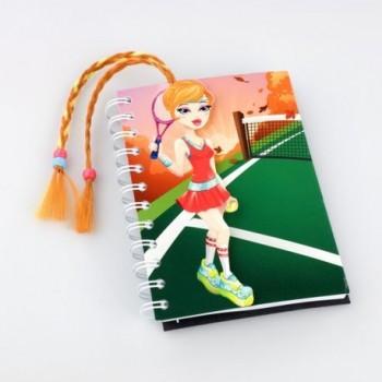 Jurnal Thinking Gift Fetita cu codita la tenis
