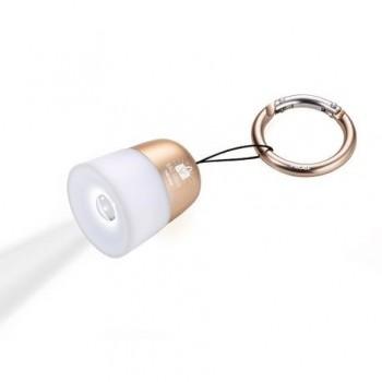 Breloc chei cu lampa Troika Bag Light, auriu