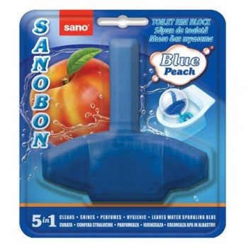 Odorizant vas toaleta Sano Bon Blue Peach 5 in 1, 55 g