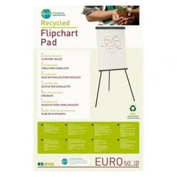 Hartie pentru flipchart Bi-Silque, reciclata, 100 x 65 cm, 70 g/mp, alba 50 coli/top