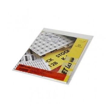 Etichete autoadezive Etilux Jetlascop, 1/A4, 210 x 297 mm, rosu, 25 coli/top